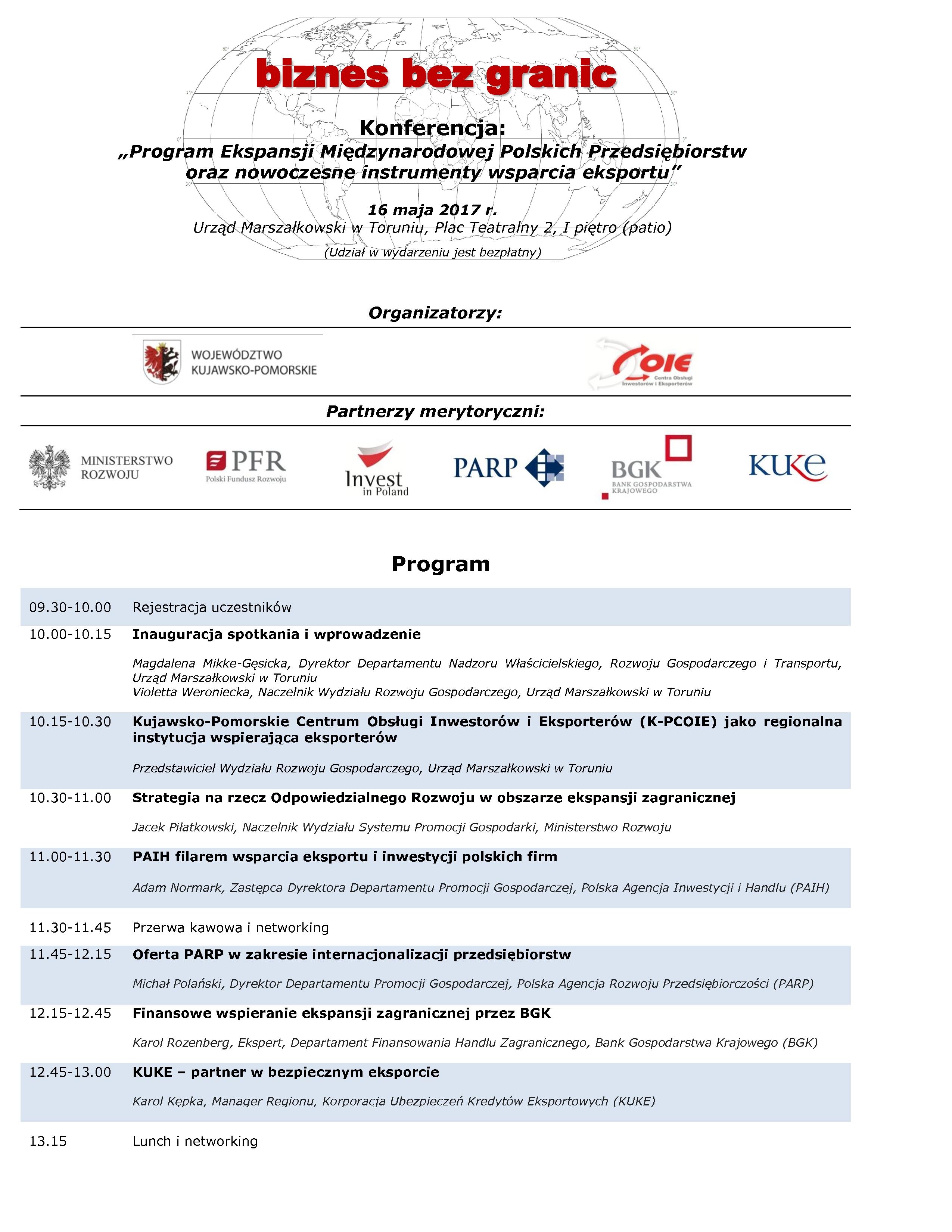 Zaproszenie Na Konferencję Dla Przedsiębiorców Biznes Bez Granic