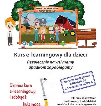 Plakat kursu e-learningowego dla dzieci